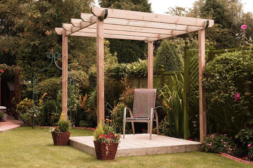 drevená pergola do záhrady