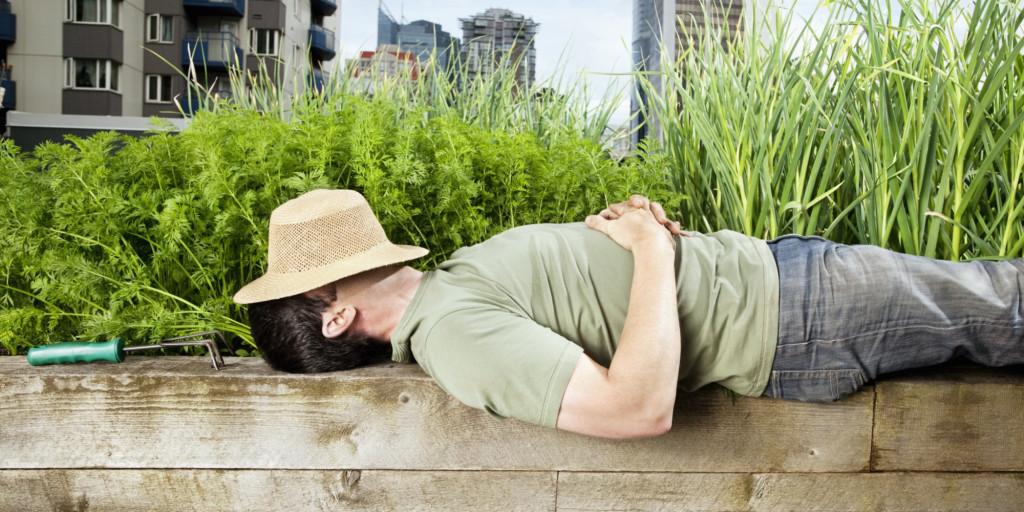 odpočinek v zahradě