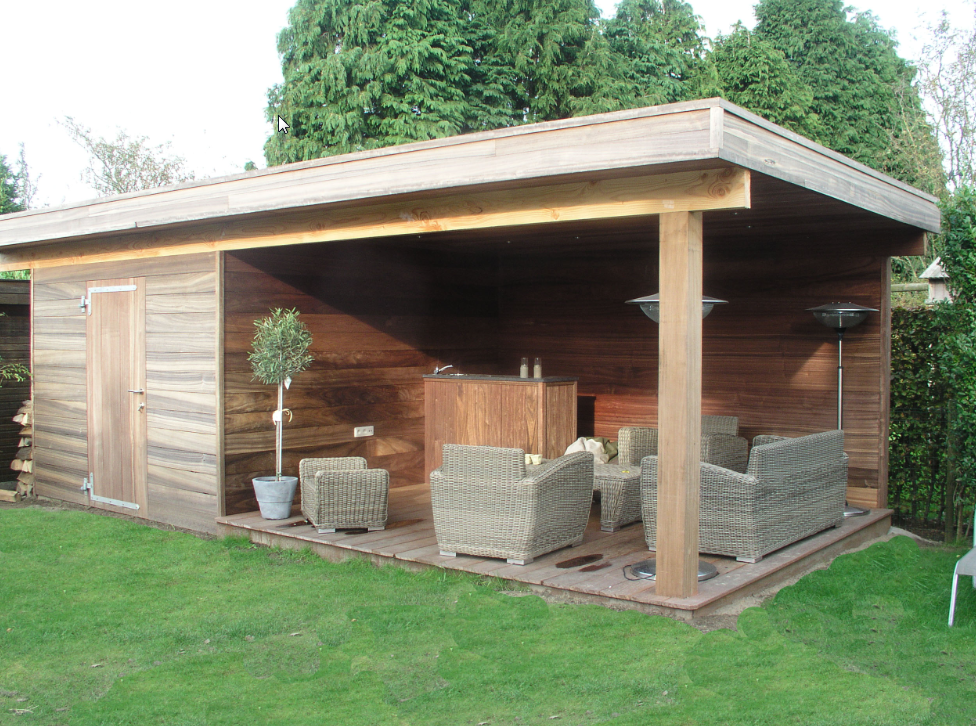 záhradní domek ze dřeva