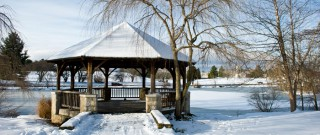 Jak využít zahradní altán v zimě?
