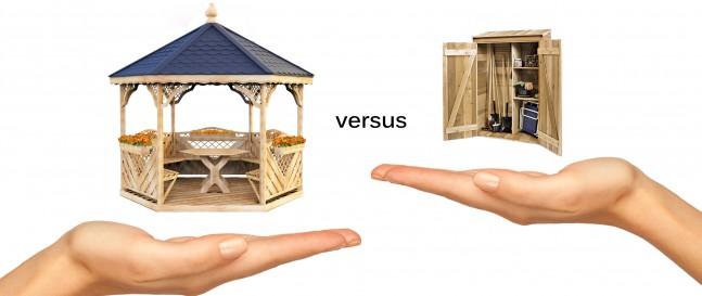 Přístřešek nebo zahradní altán?